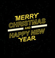 2019 merry christmas and happy new year for your vector image vector image