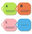 Abstract color shapes for your infographics vector image