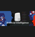 ai artificial intelligence smart home digital vector image vector image