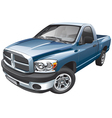 american full size pickup vector image vector image