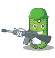 army price tag character cartoon vector image