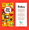 bbq party flyer vector image