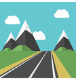 Beautiful landscape with road vector image vector image
