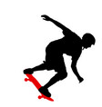 black silhouette of an athlete skateboarder in a vector image vector image