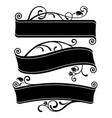 black silhouettes three decorative retro vector image