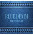 blue denim texture vector image vector image