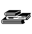 book stack icon simple style vector image