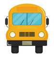 bus school vehicle transport icon vector image