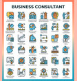 business consultant icons vector image vector image