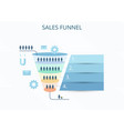 business infographics with stages of a sales vector image vector image