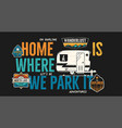 camping badge design outdoor adventure logo with vector image vector image