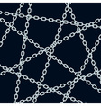 Chain pattern on black vector image vector image