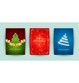 christmas greeting cards set and ornate vector image vector image