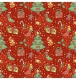 Christmas pattern with confetti vector image vector image