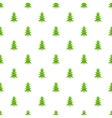 Christmas tree with toys pattern cartoon style vector image vector image