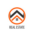 circle real estate logo concept design symbol vector image vector image