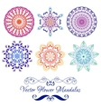Color Floral Mandala isolated on white vector image vector image