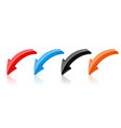 colored arrows moving down 3d icons vector image vector image