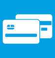 credit card icon white vector image