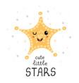 cute little star - fun hand drawn nursery poster vector image vector image