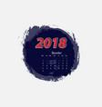 december 2018 calendar templates vector image vector image