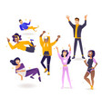 delight and amorous young people with thumbs up vector image vector image