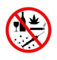 drug alcohol smoke vape sign forbidden tobacco