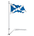 Flag Pole Scotland vector image vector image