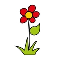 flower floral nature icon vector image vector image