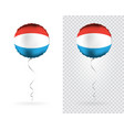 foil balloons in national flag luxembourg vector image