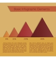 for web design infographics vector image vector image