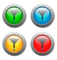 Funnel icon with drops set on glass buttons vector image vector image