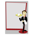 Funny Sommelier with copy space vector image vector image
