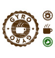 gyro stamp seal with scratched surface vector image