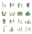 Happy Family Flat Icons vector image vector image