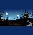 happy halloween seamless background vector image vector image