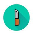 knife sign icon on white background vector image vector image
