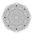 mandala doodle drawing round zentangl ornament vector image vector image