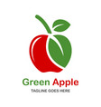 natural apple logo vector image