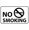 no smoking poster design black stop vector image vector image