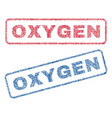 oxygen textile stamps vector image vector image