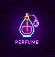 perfume neon label vector image vector image