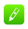 permanent marker icon digital green vector image