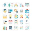 Project Management Colored Icons 2 vector image vector image