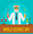 science day concept background flat style vector image vector image