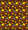 seamless pattern design with leaf vector image vector image
