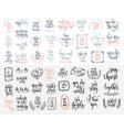 set 50 hand lettering inscription to wedding vector image