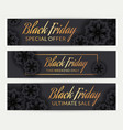 set black friday sale banners with flowers vector image