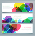 set of banners with abstract colorful circles vector image vector image