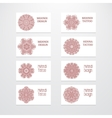 Set of business card templates mehndi design vector image